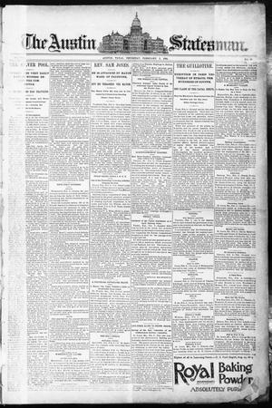 Primary view of object titled 'The Austin Statesman. (Austin, Tex.), Vol. 8, No. 40, Ed. 1 Thursday, February 5, 1891'.