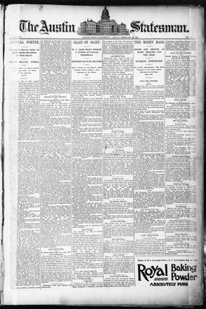 Primary view of object titled 'The Austin Statesman. (Austin, Tex.), Vol. 8, No. 42, Ed. 1 Thursday, February 19, 1891'.