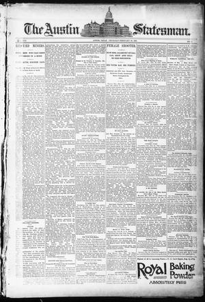 Primary view of object titled 'The Austin Statesman. (Austin, Tex.), Vol. 8, No. 43, Ed. 1 Thursday, February 26, 1891'.