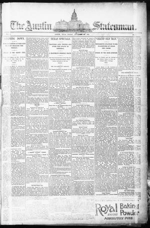 Primary view of object titled 'The Austin Statesman. (Austin, Tex.), Vol. 1, No. 1, Ed. 1 Thursday, March 19, 1891'.