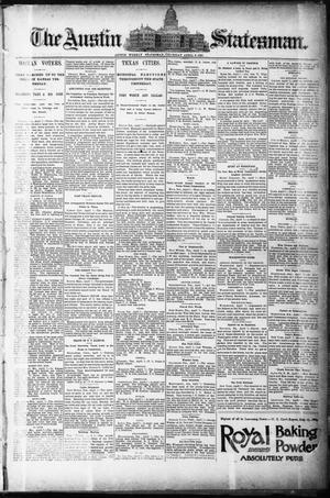 Primary view of object titled 'The Austin Statesman. (Austin, Tex.), Ed. 1 Thursday, April 9, 1891'.