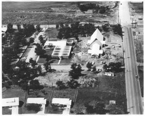 Primary view of object titled 'Aerial View of St. Philip's Presbyterian Church'.