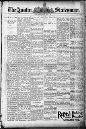 Primary view of object titled 'The Austin Statesman. (Austin, Tex.), Vol. 19, No. 2, Ed. 1 Thursday, June 4, 1891'.