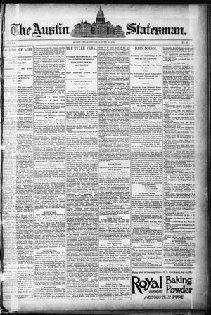 The Austin Statesman. (Austin, Tex.), Vol. 19, No. 53, Ed. 1 Thursday, June 18, 1891
