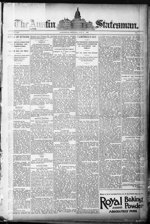 Primary view of object titled 'The Austin Statesman. (Austin, Tex.), Vol. 19, Ed. 1 Thursday, July 2, 1891'.