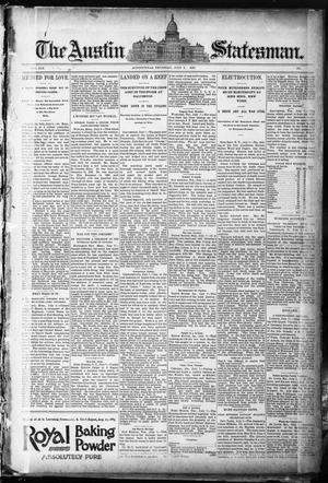 Primary view of object titled 'The Austin Statesman. (Austin, Tex.), Vol. 19, Ed. 1 Thursday, July 9, 1891'.