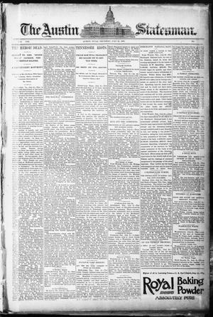 Primary view of object titled 'The Austin Statesman. (Austin, Tex.), Vol. 19, Ed. 1 Thursday, July 23, 1891'.