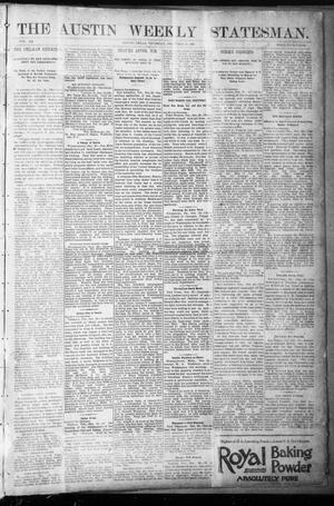 The Austin Weekly Statesman. (Austin, Tex.), Vol. 20, Ed. 1 Thursday, December 31, 1891