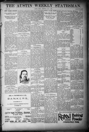 Primary view of object titled 'The Austin Weekly Statesman. (Austin, Tex.), Vol. 20, Ed. 1 Thursday, May 5, 1892'.