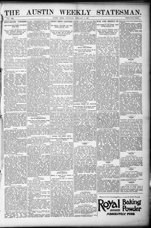 Primary view of object titled 'The Austin Weekly Statesman. (Austin, Tex.), Vol. 21, Ed. 1 Thursday, February 2, 1893'.