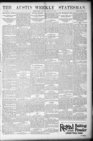 Primary view of object titled 'The Austin Weekly Statesman. (Austin, Tex.), Vol. 21, Ed. 1 Thursday, February 23, 1893'.