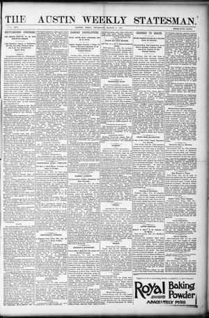 The Austin Weekly Statesman. (Austin, Tex.), Vol. 21, Ed. 1 Thursday, March 2, 1893