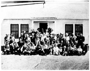 Primary view of object titled 'Pleasant Run Baptist Church at the Dedication of the Parsonage'.