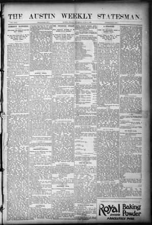 Primary view of object titled 'The Austin Weekly Statesman. (Austin, Tex.), Vol. 22, Ed. 1 Thursday, July 6, 1893'.