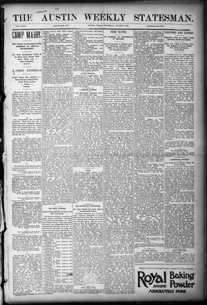 Primary view of object titled 'The Austin Weekly Statesman. (Austin, Tex.), Vol. 23, Ed. 1 Thursday, August 3, 1893'.