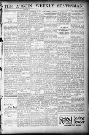 Primary view of object titled 'The Austin Weekly Statesman. (Austin, Tex.), Vol. 8, Ed. 1 Thursday, June 14, 1894'.