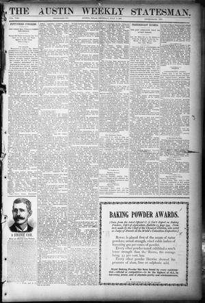 Primary view of object titled 'The Austin Weekly Statesman. (Austin, Tex.), Vol. 8, Ed. 1 Thursday, July 5, 1894'.