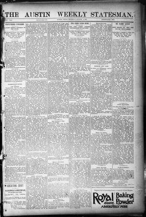 Primary view of object titled 'The Austin Weekly Statesman. (Austin, Tex.), Vol. 8, Ed. 1 Thursday, August 2, 1894'.