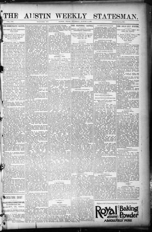Primary view of object titled 'The Austin Weekly Statesman. (Austin, Tex.), Vol. 8, Ed. 1 Thursday, August 9, 1894'.