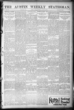 Primary view of object titled 'The Austin Weekly Statesman. (Austin, Tex.), Vol. 8, Ed. 1 Thursday, August 23, 1894'.