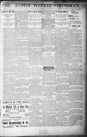 Primary view of object titled 'The Austin Weekly Statesman. (Austin, Tex.), Vol. 25, Ed. 1 Thursday, August 22, 1895'.