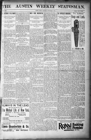 Primary view of object titled 'The Austin Weekly Statesman. (Austin, Tex.), Vol. 25, Ed. 1 Thursday, September 5, 1895'.