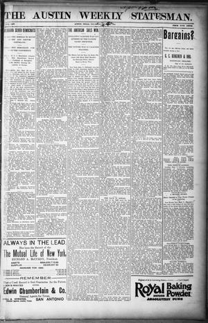 Primary view of object titled 'The Austin Weekly Statesman. (Austin, Tex.), Vol. 25, Ed. 1 Thursday, September 12, 1895'.