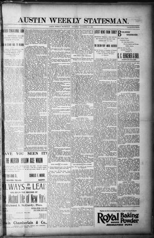 Primary view of object titled 'Austin Weekly Statesman. (Austin, Tex.), Vol. 25, Ed. 1 Thursday, November 21, 1895'.