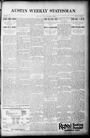 Primary view of object titled 'Austin Weekly Statesman. (Austin, Tex.), Vol. 26, Ed. 1 Thursday, September 3, 1896'.