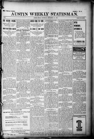 Primary view of object titled 'Austin Weekly Statesman. (Austin, Tex.), Vol. 26, Ed. 1 Thursday, September 23, 1897'.