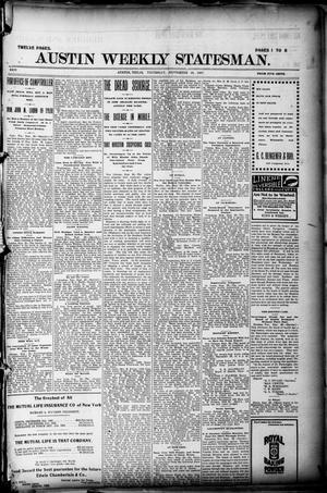 Primary view of object titled 'Austin Weekly Statesman. (Austin, Tex.), Vol. 26, Ed. 1 Thursday, September 30, 1897'.
