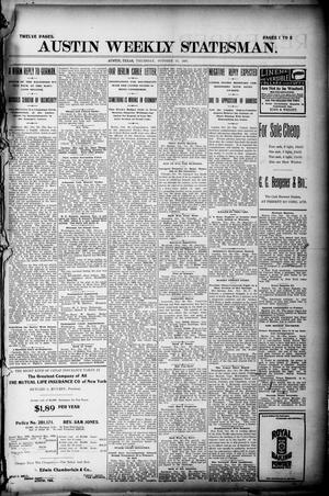 Primary view of object titled 'Austin Weekly Statesman. (Austin, Tex.), Ed. 1 Thursday, October 21, 1897'.