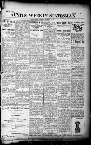 Primary view of object titled 'Austin Weekly Statesman. (Austin, Tex.), Ed. 1 Thursday, November 11, 1897'.