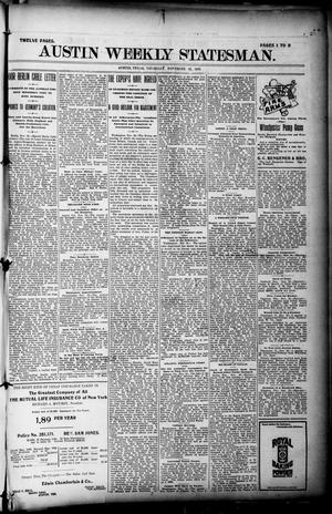 Primary view of object titled 'Austin Weekly Statesman. (Austin, Tex.), Ed. 1 Thursday, November 18, 1897'.