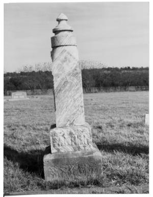 Primary view of object titled 'Monument of a Parker Family Member'.