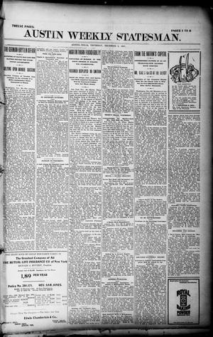Primary view of object titled 'Austin Weekly Statesman. (Austin, Tex.), Ed. 1 Thursday, December 2, 1897'.