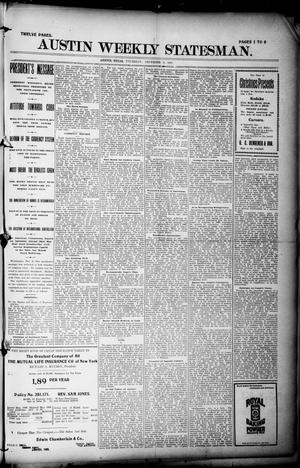 Primary view of object titled 'Austin Weekly Statesman. (Austin, Tex.), Ed. 1 Thursday, December 9, 1897'.