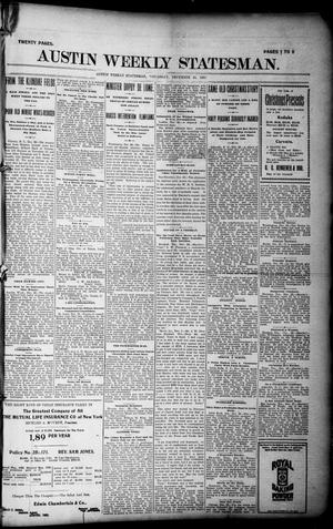Primary view of object titled 'Austin Weekly Statesman. (Austin, Tex.), Ed. 1 Thursday, December 30, 1897'.