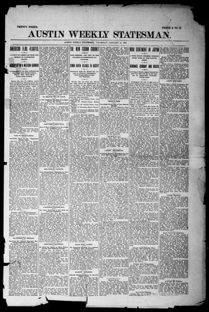 Primary view of object titled 'Austin Weekly Statesman. (Austin, Tex.), Ed. 1 Thursday, January 6, 1898'.