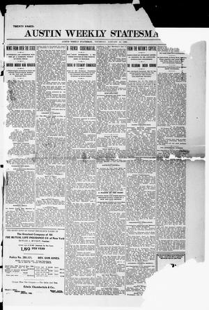 Primary view of object titled 'Austin Weekly Statesman. (Austin, Tex.), Ed. 1 Thursday, January 13, 1898'.