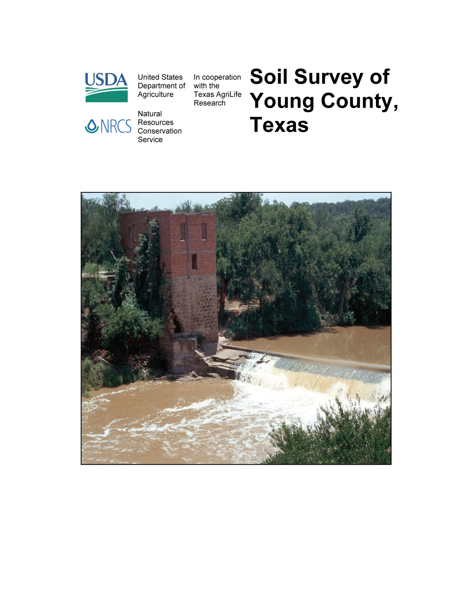 Soil survey of young county texas page front cover for Soil young s modulus