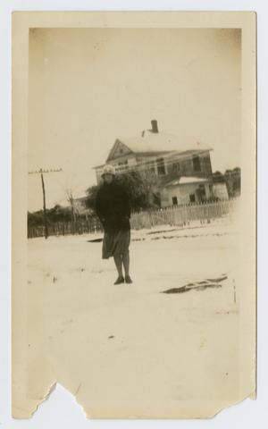 [Woman in Front of the R. L. Parke Home]