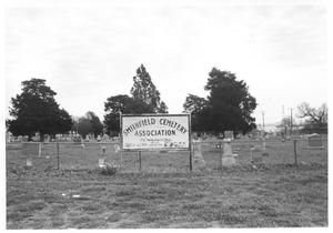 Primary view of object titled 'Smithfield Cemetery Association Sign'.