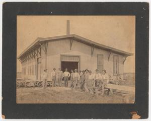 Primary view of object titled '[League City Railroad Shop]'.
