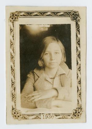 Primary view of object titled '[Portrait of a Teenage Girl]'.