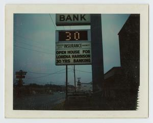 Primary view of object titled '[Sign at League City State Bank]'.