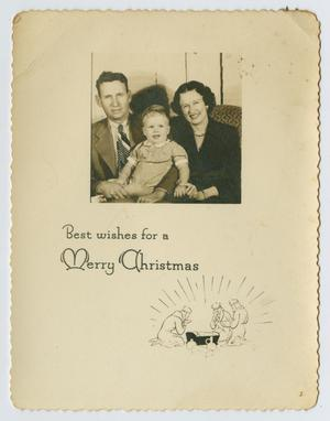 Primary view of object titled '[Family Christmas Card]'.