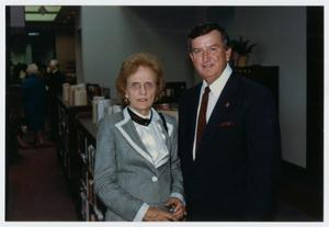 [Dr. Lloyd Ferguson and his wife Rosalee at the Helen Hall Library Open House]
