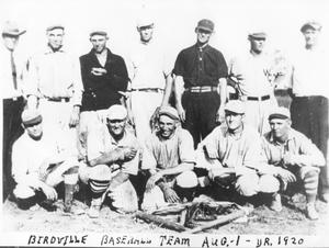 Primary view of object titled 'Birdville Baseball Team, 1920'.