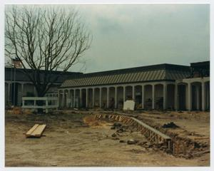 Primary view of object titled '[Helen Hall Library Under Construction]'.